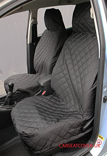 2 x Fronts Peugeot 107 Pink Camouflage Waterproof Car Seat Covers 2009-13