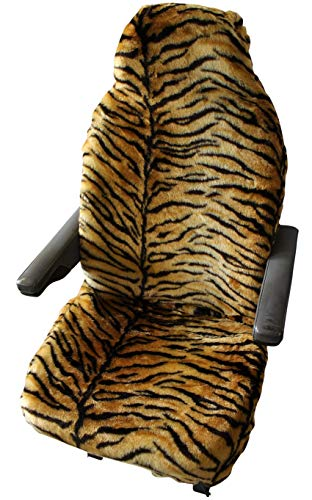 MOTORHOME SEAT COVERS IN FAUX FUR [CHOICE OF 10 FABRICS][GOLD TIGER] from Carseatcover-UK