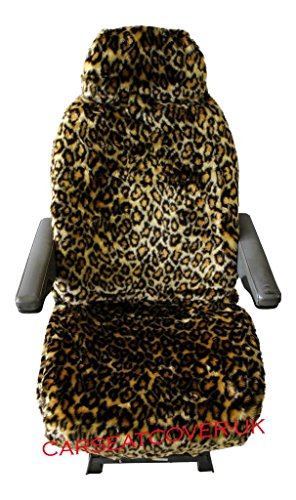 MOTORHOME SEAT COVERS IN FAUX FUR [CHOICE OF 10 FABRICS][LEOPARD] from Carseatcover-UK