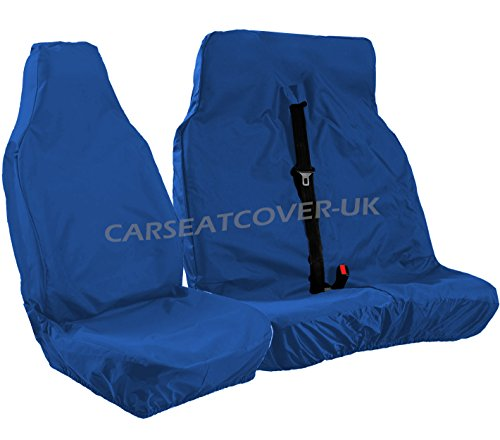 Heavy Duty Blue Waterproof Van Seat Covers - Single + Double from Carseatcover-UK