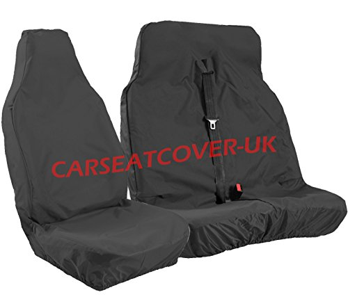 XTRA HEAVY DUTY RUGGED Waterproof Van Seat Covers - Single + Double [CHOICE OF 6 COLOURS] [BLACK] from Carseatcover-UK
