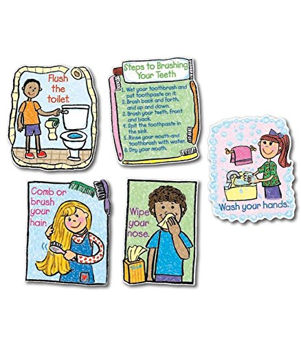 Carson Dellosa CD-3258 Hygiene Kid-Drawn Bulletin Board Set from Carson Dellosa