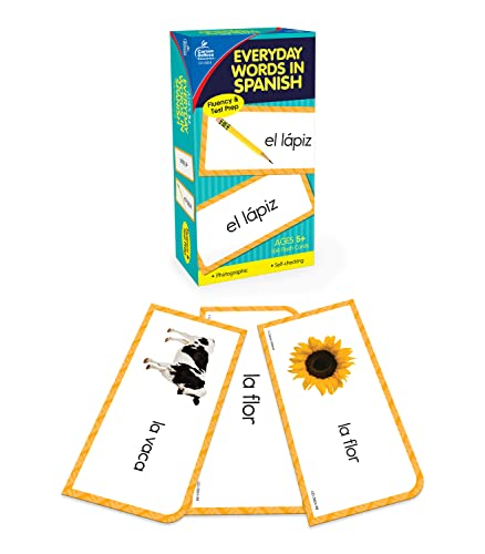 Everyday Words in Spanish: Photographic Flash Cards: Palabras de Todos Los Dias: Fotografico from Carson Dellosa