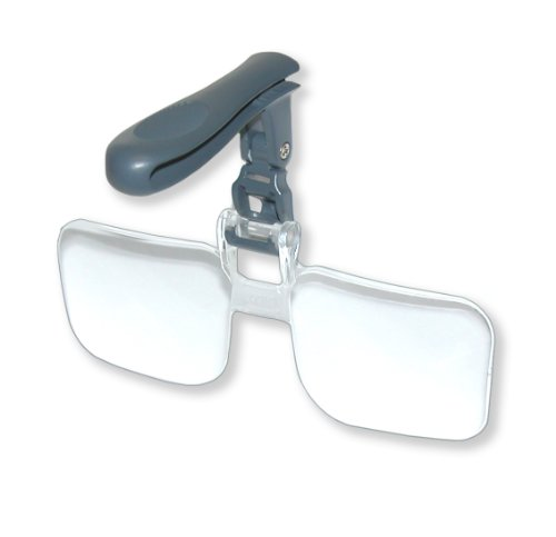 Carson VisorMag Hands-Free Hat Mounted Clip-On 2.00x Magnifying Lenses from Carson