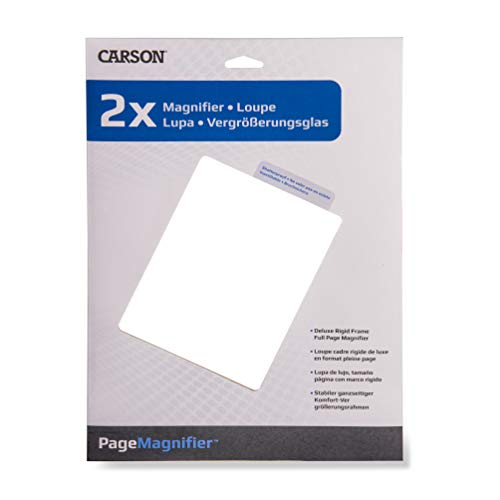Carson  Shatterproof 2x Fresnel Page Magnifier from Carson Optical