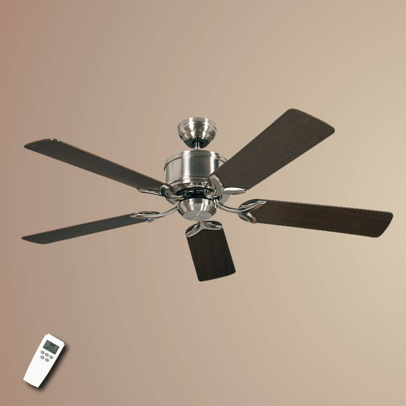 Ceiling fan Eco Elements with wenge and maple from CASAFAN