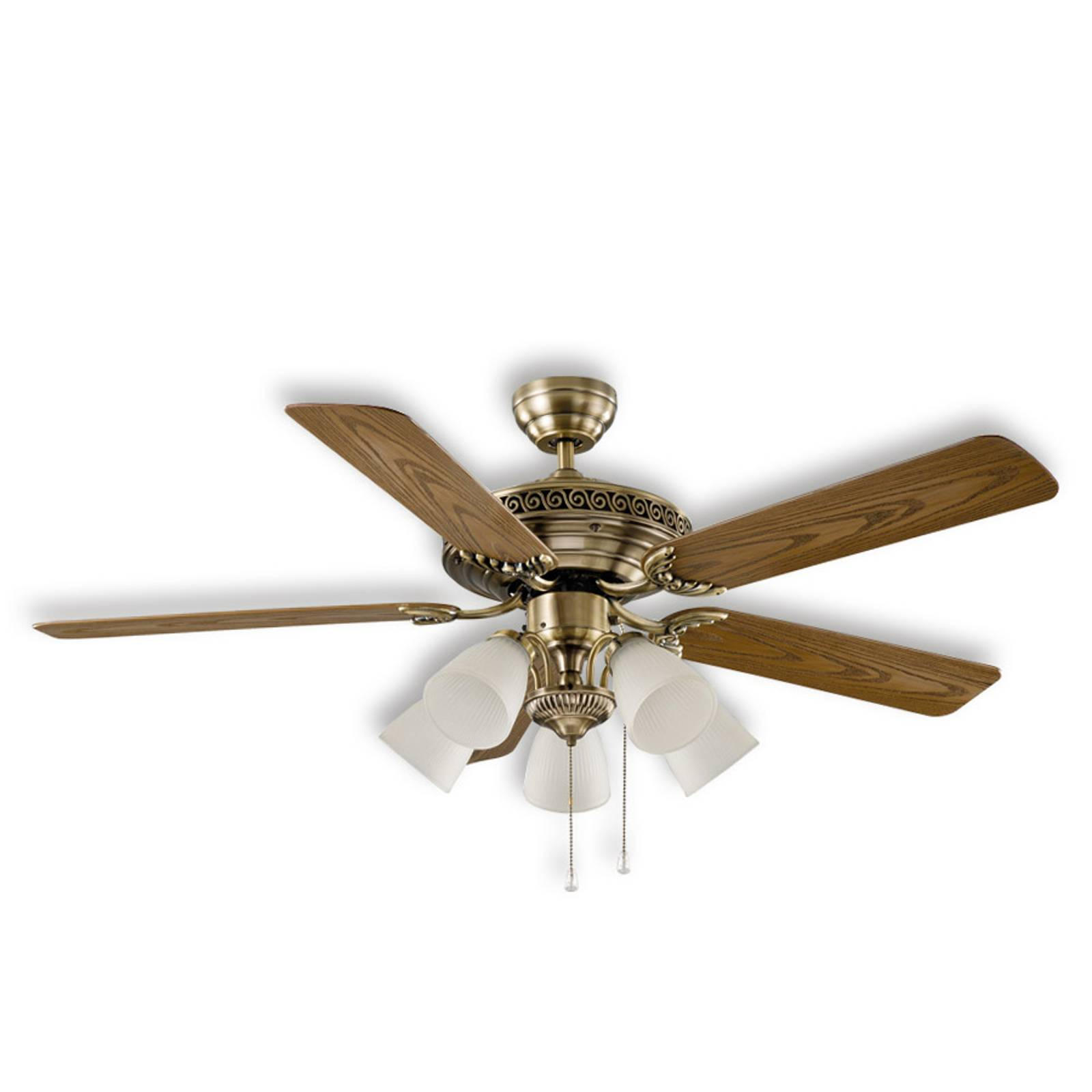 Centurion ceiling fan, antique brass from CASAFAN