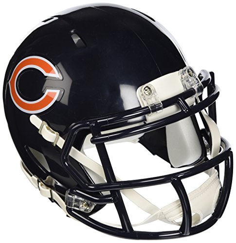 OFFICIAL NFL CHICAGO BEARS MINI SPEED AMERICAN FOOTBALL HELMET BY RIDDELL from Riddell