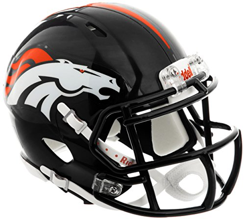 OFFICIAL NFL DENVER BRONCOS MINI SPEED AMERICAN FOOTBALL HELMET BY RIDDELL from Riddell