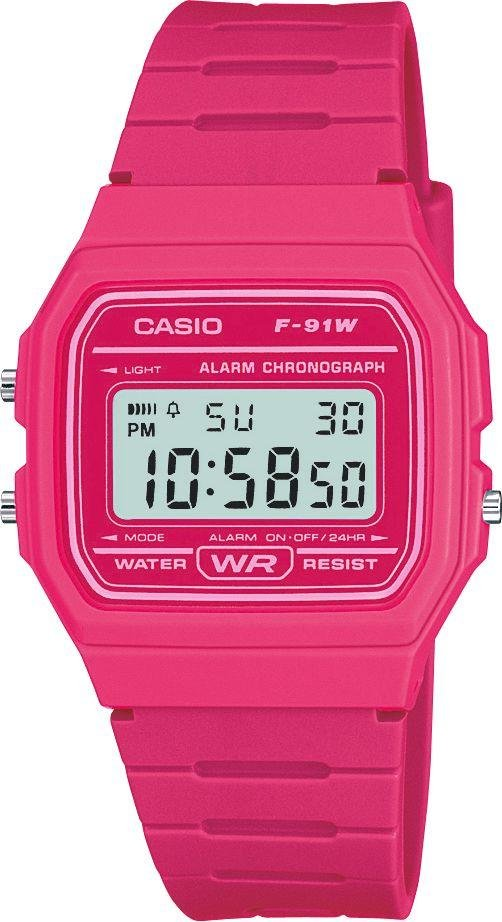 Casio - Digital - Watch with Pink Resin Strap from Casio