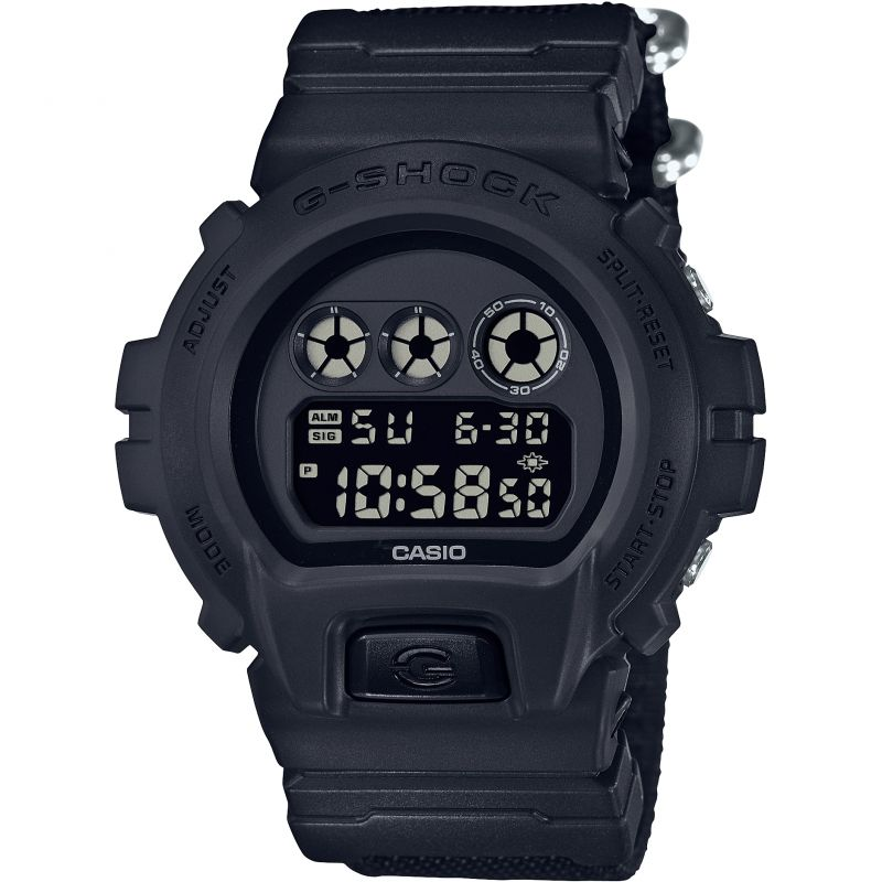 Mens Casio G-Shock Blackout Cloth Series Alarm Chronograph Watch from Casio