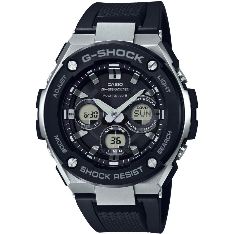 Mens Casio G-Steel Midsize Alarm Chronograph Radio Controlled Watch from Casio