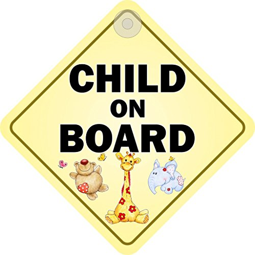 Child On Board Diamond Hanging Car Window Sign from Castle Promotions
