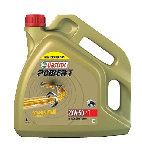 Castrol Synthetic Power 1 4T SAE 20W-50 Engine Oil, 4L from Castrol