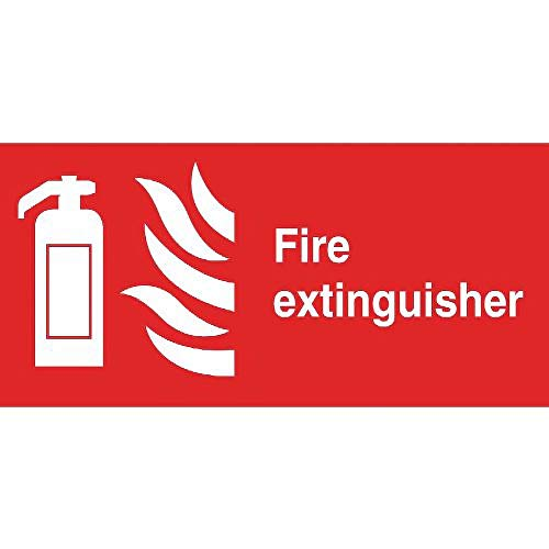 Fire Extinguisher Symbol Sign Notice Safety Plaque Poster Commercial 100X200mm from Unknown