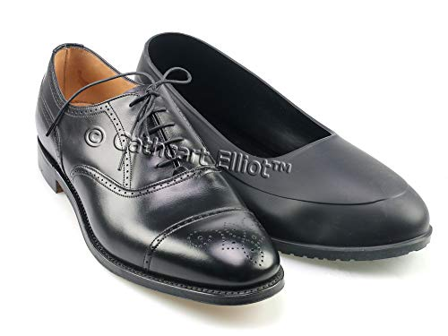 Waterproof Rubber Overshoes / Galoshes with ribbed thick rubber sole (42-43) from Cathcart Elliot