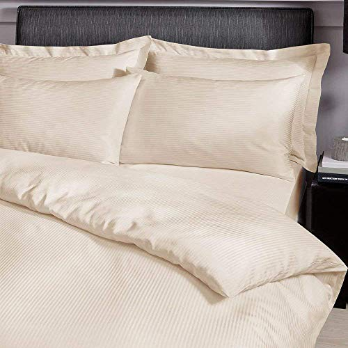 Catherine Lansfield Platinum Satin Stripe 300 Thread Count Housewife Pillow Cases, Cream, Pair from Catherine Lansfield