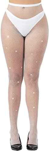 c1913acb7f27b Cctiwee Women's Hollow Out Rhinestone Fishnet Pantyhose Tights (White) from  Cctiwee. found at Amazon Marketplace