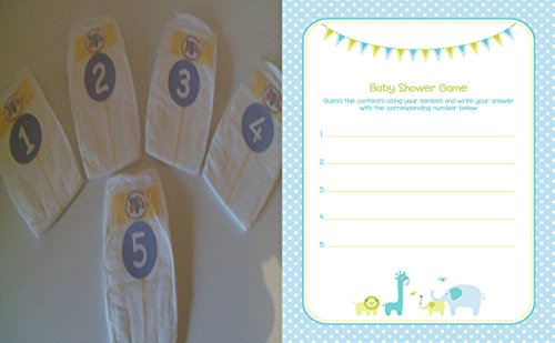 Baby Shower Games - Dirty Nappy Blue/Boy (10 Players) from Celebrating Baby