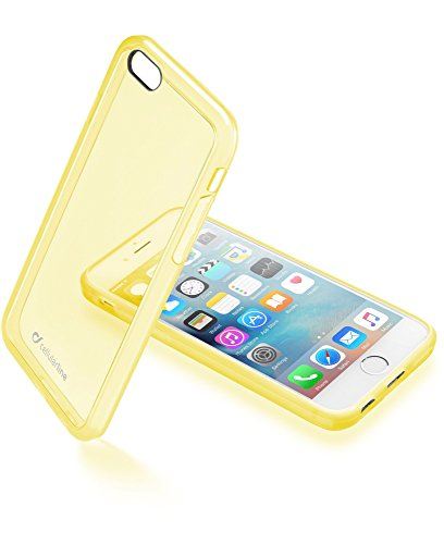 Cellularline Clear Color Smartphone Cover Case for Apple iPhone 6/6S, Transparent Case - Yellow from cellularline