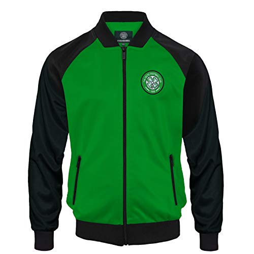 4554cf2ad97 Celtic FC Official Football Gift Boys Retro Track Top Jacket 10-11 Years  Green from