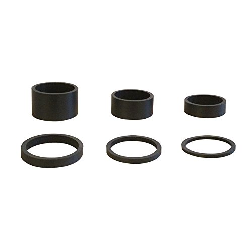 "6PCS Light Weight UD Carbon Matte Black Headset Spacers 1 1/8""-2mm,3mm,5mm,10mm,15mm,20mm from Cervus"