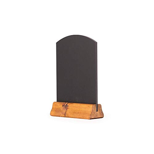 Chalkboards UK A5 Table Top Chalkboard with Wooden Plinth, Wood, Rustic Brown, 23 x 15 x 4 cm from Chalkboards UK