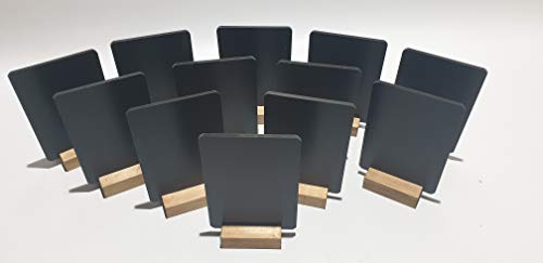 A6 x 20 TABLE TOP BLACKBOARDS + 5 WHITE RAINBOW CHALK PENS. from Chalkboards-r-us