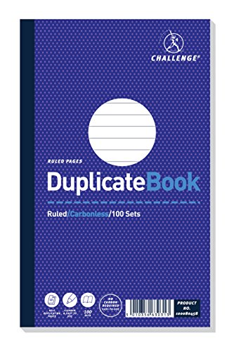 Challenge 210 x 130 mm Duplicate Book, Carbonless, 100 Pages, Set of 5 from CHALLENGE