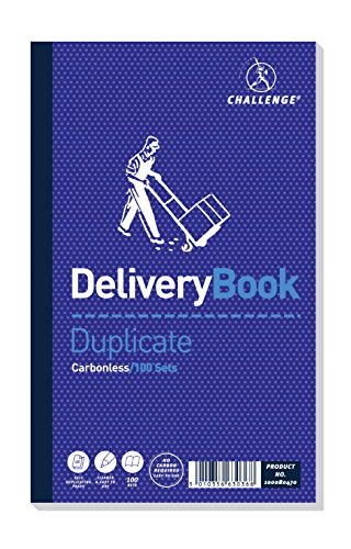 Challenge 210 x 130 mm Duplicate Delivery Book, Carbonless, 100 Pages, Set of 5 from CHALLENGE