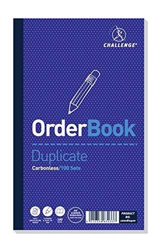 Challenge 210 x 130 mm Duplicate Order Book, Carbonless, 100 Pages, Set of 5 from CHALLENGE