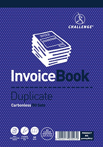 Challenge 195 x 137 mm Duplicate Invoice Book, Carbonless, 50 Pages, Set of 5 from CHALLENGE