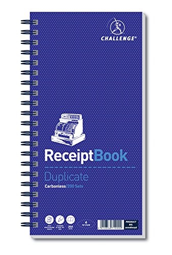 Challenge 280 x 141 mm Duplicate Receipt Book, Carbonless, 200 Pages, Set of 1 from CHALLENGE