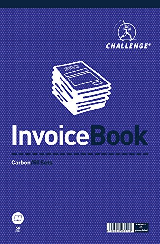 Challenge 297 x 195 mm Large Duplicate Invoice Book, Carbon without Vat, 50 Pages, Set of 1 from CHALLENGE