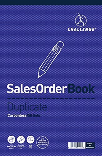 Challenge 297 x 195 mm Large Duplicate Sales Order Book, Carbonless, 50 Pages, Set of 1 from CHALLENGE