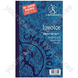 Duplicate Invoice Books with VAT/Tax - 100 Sets - Pack of 5 from Challenge