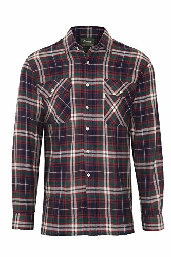 Champion Men's Kempton Long Sleeve Checked Cotton Regular Fit Shirt (Blue) L from Champion