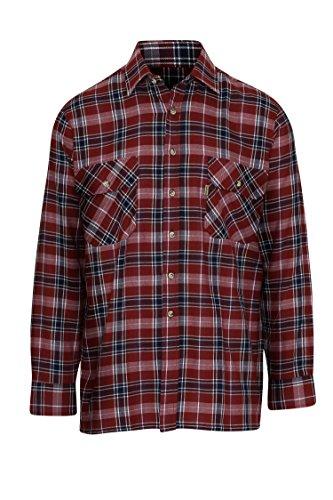 Champion Men's Tilbury Comfort Generous Fit 100% Cotton Checked Shirt (Red) XL from Champion