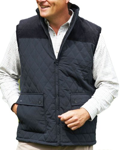 Mens Champion Country Clothing Arundel Fleece Lined BodyWarmer Gilet Black 3XL from Champion