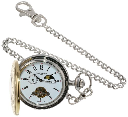 Charles-Hubert, Paris Stainless Steel Two-Tone Mechanical Pocket Watch from CHARLES-HUBERT PARIS