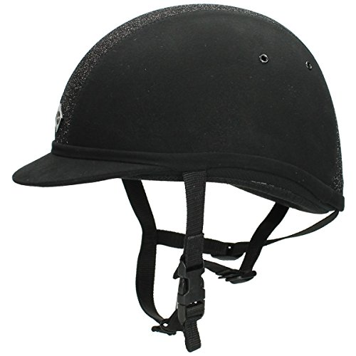 Charles Owen YR8 Riding Hat - Black/Black Sparkle: 7.1/8 from Charles Owen