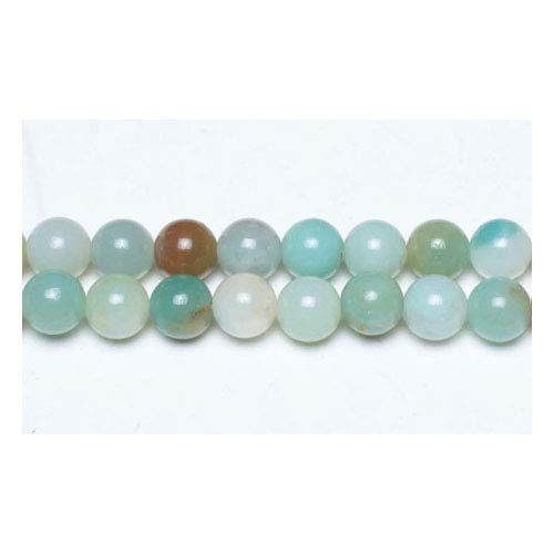 Strand Of 45+ Multicolour Amazonite 8mm Plain Round Beads - (GS4795-3) - Charming Beads from Charming Beads
