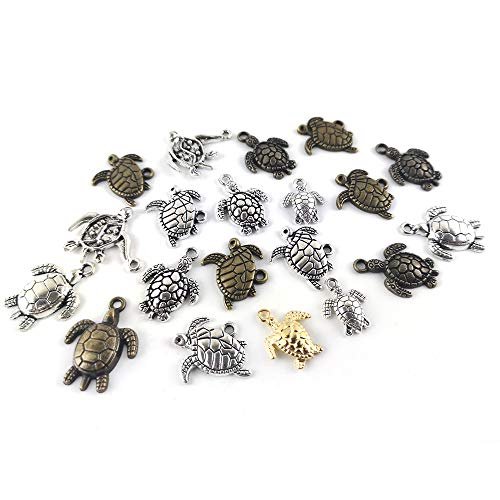 Pack of 30 Grams Mixed Tibetan Random Shapes & Sizes Charms (TORTOISE) - (HA07365) - Charming Beads from Charming Beads