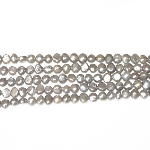 Strand 40+ Silver Freshwater Pearl 7-8mm Baroque Potato Beads FP1678-4 (Charming Beads) from Charming Beads