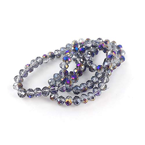 Strand 90+ Purple Czech Crystal Glass 4 x 6mm Faceted Rondelle Beads GC9596-2 (Charming Beads) from Charming Beads