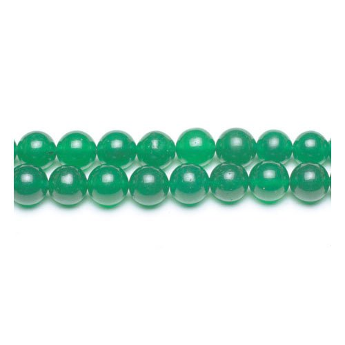 Strand Of 45+ Green Malaysian Jade 8mm Plain Round Beads - (GS9952-3) - Charming Beads from Charming Beads