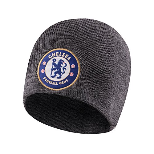 86332a2e51d Chelsea FC Official Football Gift Kids Knitted Beanie Hat Grey from Chelsea  F.C.
