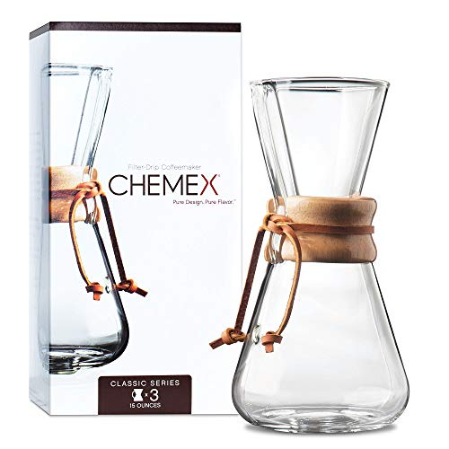 Chemex 3-Cup Wood Neck Coffee Maker from Chemex