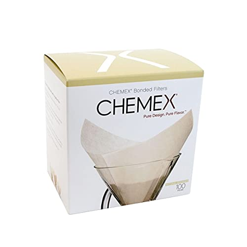 Chemex FS-100 Prefolded Square Filters Box 100 Filters from Chemex