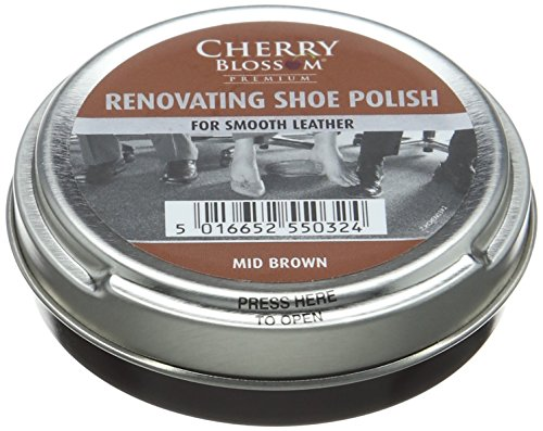 Cherry Blossom Premium Renovating Shoe Treatments and Polishes PCREN03 Mid Brown 50.00 ml from Cherry Blossom Premium